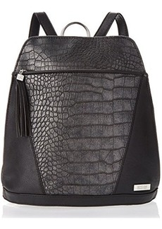 Kenneth Cole Reaction 4 Easy Pieces Crocodile Backpack,Pewter/Black,One Size