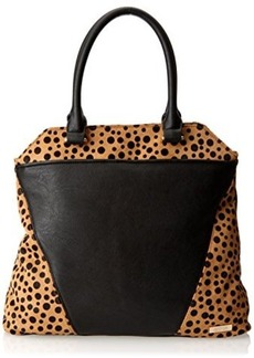 Kenneth Cole Reaction 4 Easy Pieces Haircalf Tote,Black/Polka Dot,One Size