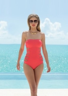 Kenneth Cole Reaction Bandeau Cutout One-Piece Swimsuit Women's Swimsuit