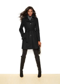 Kenneth Cole Reaction Petite Belted Wool-Blend Coat