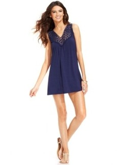 Kenneth Cole Reaction Crochet-Top Tunic Cover-Up Women's Swimsuit