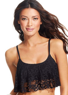 Kenneth Cole Reaction Cropped Crochet Bikini Top