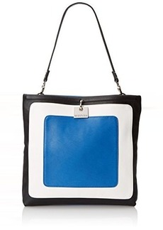 Kenneth Cole Reaction Fold Digger Colorblock Shoulder Bag, Delft Blue/Chalk/Black, One Size