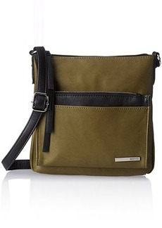 Kenneth Cole Reaction Foldover Cross Body Bag, Cadet Olive/Black, One Size