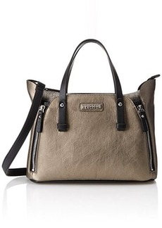 Kenneth Cole Reaction Hardcore Metallic Cocoa Mauve Satchel, Metallic Cocoa Mauve/Black/Multi, One Size