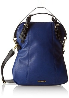 Kenneth Cole Reaction In The Loop Convertible Shoulder Bag,Azul/Black Stingray,One Size