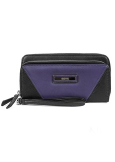 KENNETH COLE REACTION Leather Double Zip Around Clutch
