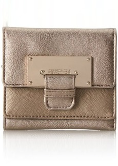 Kenneth Cole Reaction Metal Head Double Flap Indexer Wallet