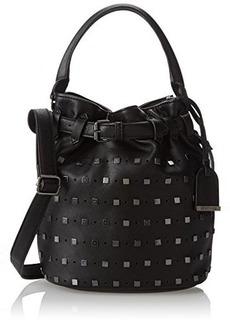 Kenneth Cole Reaction Moto Stud Bucket Top Handle Bag