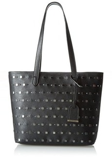 Kenneth Cole Reaction Moto Stud Travel Tote,Black/Hematite Studs,One Size
