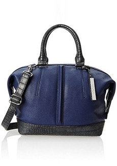 Kenneth Cole Reaction Northern Exposure Crocodile Satchel,Indigo/Pewter,One Size