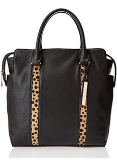 Kenneth Cole Reaction Northern Exposure Haircalf Tote,Black/Polka Dot,One Size