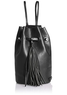Kenneth Cole Reaction On The Fringe Sling/Backpack Drawstring Backpack, Black, One Size