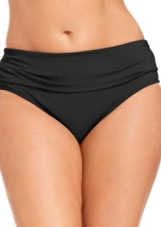 Kenneth Cole Reaction Plus Size Banded Hipster Bikini Bottom Women's Swimsuit