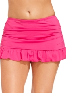 Kenneth Cole Reaction Plus Size Ruffled Swim Skirt Women's Swimsuit
