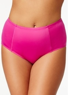 Kenneth Cole Reaction Plus Size Solid High-Waist Bikini Bottom Women's Swimsuit