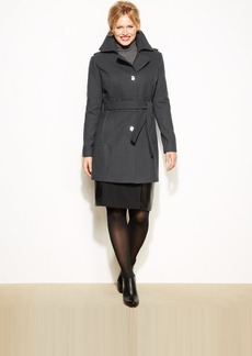 Kenneth Cole Reaction Plus Size Wool-Blend Belted Trenchcoat