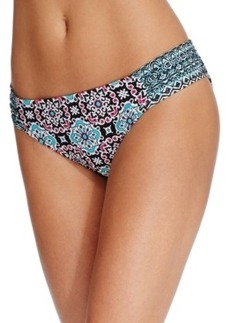 Kenneth Cole Reaction Printed Side-Tab Bikini Bottom Women's Swimsuit