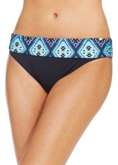 Kenneth Cole Reaction Printed-Waist Bikini Bottom Women's Swimsuit
