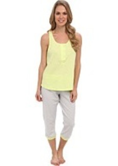 Kenneth Cole Reaction Racerback Tank/Capri w/ Contrast Trim Set