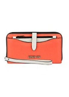 KENNETH COLE REACTION Right Angles Leather Colorblock Wristlet