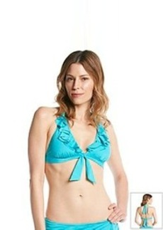 Kenneth Cole REACTION® Ruffle-Licious Banded Halter Bikini Top