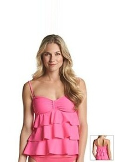 Kenneth Cole REACTION® Ruffle-Licious Tiered Tubini Top