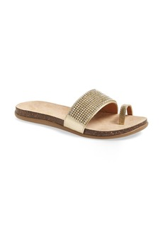 Kenneth Cole Reaction 'Slim N Trim' Crystal Embellished Toe Loop Sandal (Women)