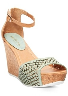 Kenneth Cole Reaction Sole Ness Platform Wedge Sandals Women's Shoes