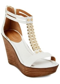 Kenneth Cole Reaction Sole Stopper Platform Wedge Sandals Women's Shoes