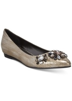 Kenneth Cole Reaction Step Forward Pointed Toe Jeweled Flats Women's Shoes