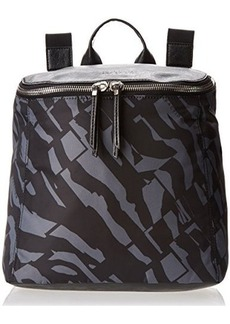 Kenneth Cole Reaction Strap Hanger Zebra Nylon Backpack,Black/Grey/Black,One Size