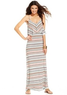 Kenneth Cole Reaction Striped Maxi Dress Cover Up Women's Swimsuit