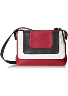Kenneth Cole Reaction Structure Messenger Cross Body Bag, Berry Stain/Black/Chalk, One Size
