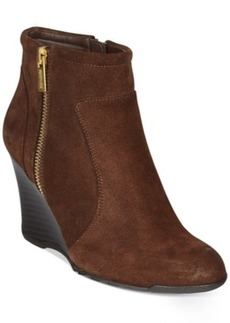 Kenneth Cole Reaction Tell Lily Pad Wedge Booties Women's Shoes