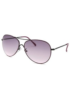 Kenneth Cole Reaction Women's Aviator Black & Purple Sunglasses