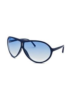 Kenneth Cole Reaction Women's Aviator Blue Sunglasses