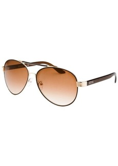 Kenneth Cole Reaction Women's Aviator Rose-Tone And Brown Sunglasses