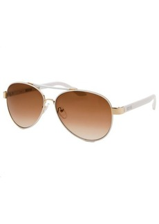 Kenneth Cole Reaction Women's Aviator Rose-Tone And White Sunglasses