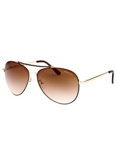 Kenneth Cole Reaction Women's Aviator Rose-Tone Sunglasses