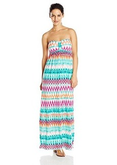 Kenneth Cole Reaction Women's Beachside Beauty Bandeau Maxi Dress