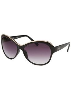 Kenneth Cole Reaction Women's Butterfly Black Sunglasses