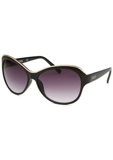 Kenneth Cole Reaction Women's Butterfly Black Sunglasses