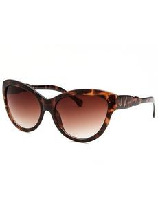 Kenneth Cole Reaction Women's Butterfly Havana Sunglasses
