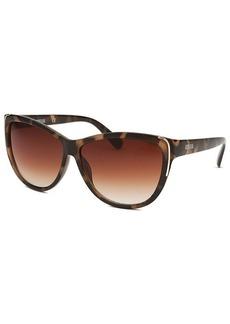 Kenneth Cole Reaction Women's Cat Eye Brown Havana Sunglasses