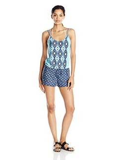 Kenneth Cole Reaction Women's Coastal Escapade Drawstring Romper