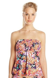 Kenneth Cole Reaction Women's Darling Ditsy Smocked Tankini