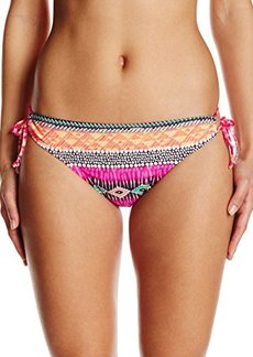 Kenneth Cole Reaction Women's Get Rio Stripe Adjustable Hipster Bikini Bottom