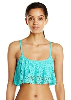 Kenneth Cole Reaction Women's Island Fever Flounce Bikini Top