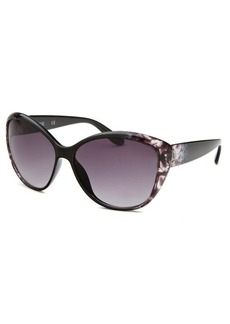 Kenneth Cole Reaction Women's Oval Black & Purple Transparent Sunglasses